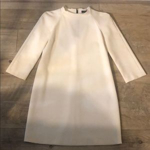 Zara Cream Minidress 3/4 sleeves